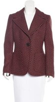 Prada Plaid Virgin Wool Blazer