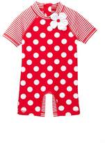 Little Me Big Dot Rashguard Suit (Baby Girls)