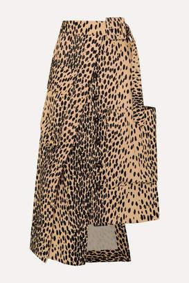 Jacquemus Thika Leopard-print Cotton-blend Midi Skirt - Leopard print