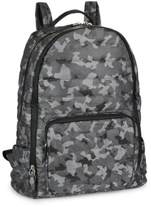 Bari Lynn Quilted Camouflage Backpack