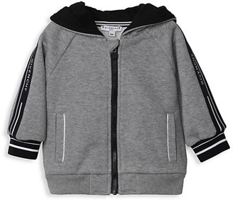 Givenchy Baby's & Little Boy's Logo Stripe Zip-Up Hoodie