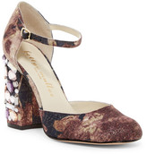 Bettye Muller Bejeweled Chunky d&Orsay Pump