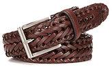 Roundtree & Yorke Big & Tall V-Braided Leather Belt