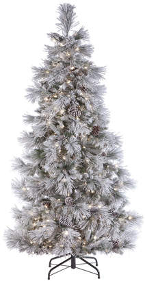 Tiffany & Co. Sterling Tree Company 7.5 Ft. White Tinsel Tree W/ 450 Clear Lights