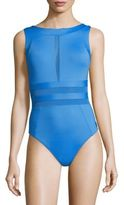 Shan Do You Think I am Sexy One-Piece Mesh-Accented Swimsuit