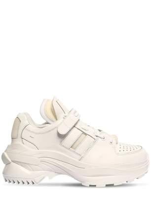 Maison Margiela Retro Fit White Leather Trainers