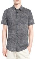 Volcom Men's 'New Noise' Trim Fit Short Sleeve Print Woven Shirt