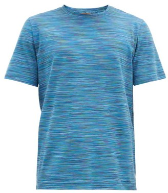 Missoni Space-dyed Striped Cotton-jersey T-shirt - Navy Multi