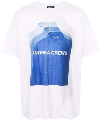 Andrea Crews logo shirt print T-shirt