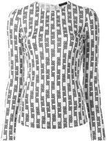 Versace Greek key pattern top - women - Viscose - 42