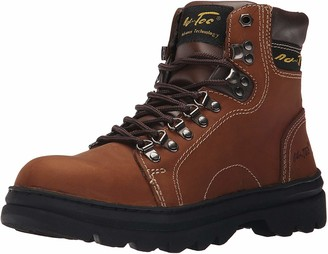"AdTec Ad Tec Mens 6"" Work Hiker Boots Slip Resistant Leather Construction Boot + Hiking"