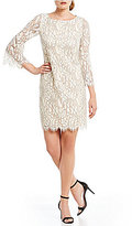 Jessica Howard Petite Bell-Sleeve Lace Dress