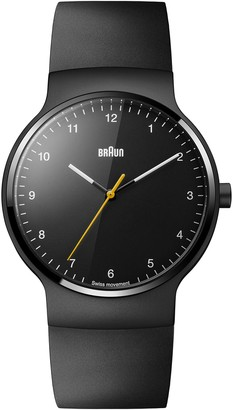 Braun Unisex Quartz Watch Analogue Display and Rubber Strap BN0221BKBKG
