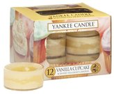 Yankee Candle Vanilla Cupcake Scented Tea Light Candles - Pack of 12