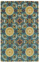 Leon Hand-tufted de Turquoise Wool Rug (5' x 7'9)