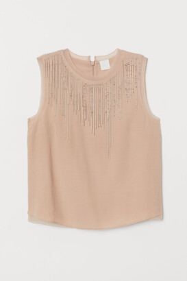 H&M Top with beaded fringes