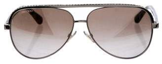 Jimmy Choo Embellished Aviator Sunglasses