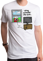 Goodie Two Sleeves White 'Play Outside She Said' Tee - Men's Regular
