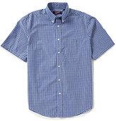 Roundtree & Yorke Travel Smart Big & Tall Short-Sleeve Checked Easy Care Sportshirt