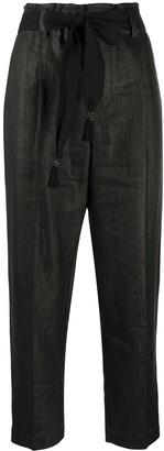 Brunello Cucinelli Belted High-Waist Trousers