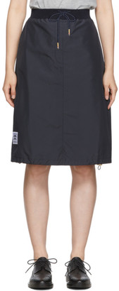 Thom Browne Navy Trompe LOeil Trouser Skirt