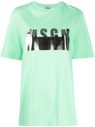 MSGM metallic logo printed T-shirt