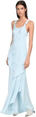 Max Mara Draped Silk Long Dress