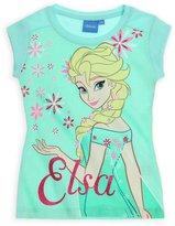 Disney Girls Frozen Short Sleeved Cotton T-Shirt