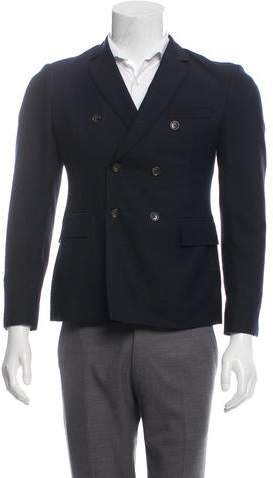 Thom Browne Wool & Mohair-Blend Double-Breasted Blazer
