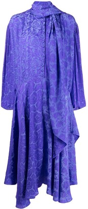 Chloé Scarf Neck Printed Dress