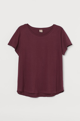 H&M H&M+ Cotton T-shirt - Red