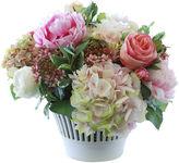 Winward Silks 18 Hydrangea & Rose in Vase, Faux