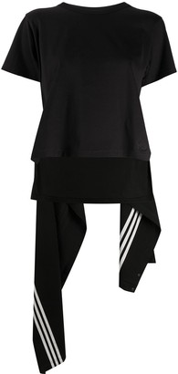 Y-3 deconstructed draped back T-shirt