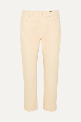 Gold Sign The Low Slung Cropped Low-rise Straight-leg Jeans - Cream