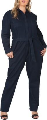 Standards & Practices Janeen Belted Denim Boilersuit