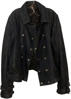 Free People Blue Leather Jackets