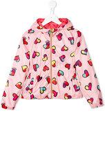 Moschino Kids heart print rain jacket