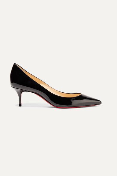 Christian Louboutin Pigalle Follies 55 Patent-leather Pumps - Black