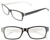 Corinne McCormack Women's 'Jess' 52Mm Reading Glasses - Black/ White