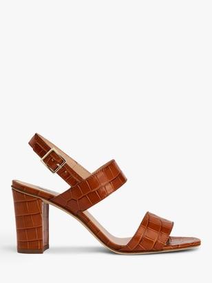 LK Bennett Rhiannon Croc Sandals, Brown