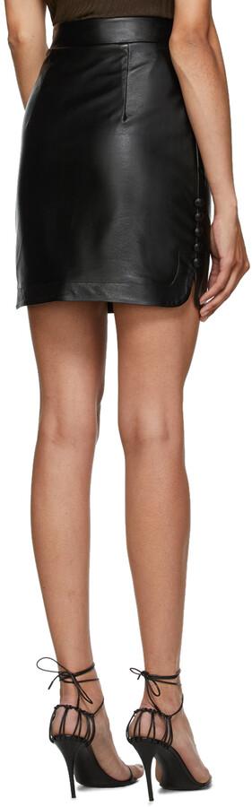 Thumbnail for your product : MATÉRIEL Black Faux-Leather Miniskirt