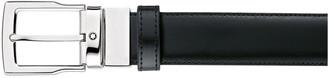 Montblanc Men's Rectangle-Buckle Reversible Leather Belt