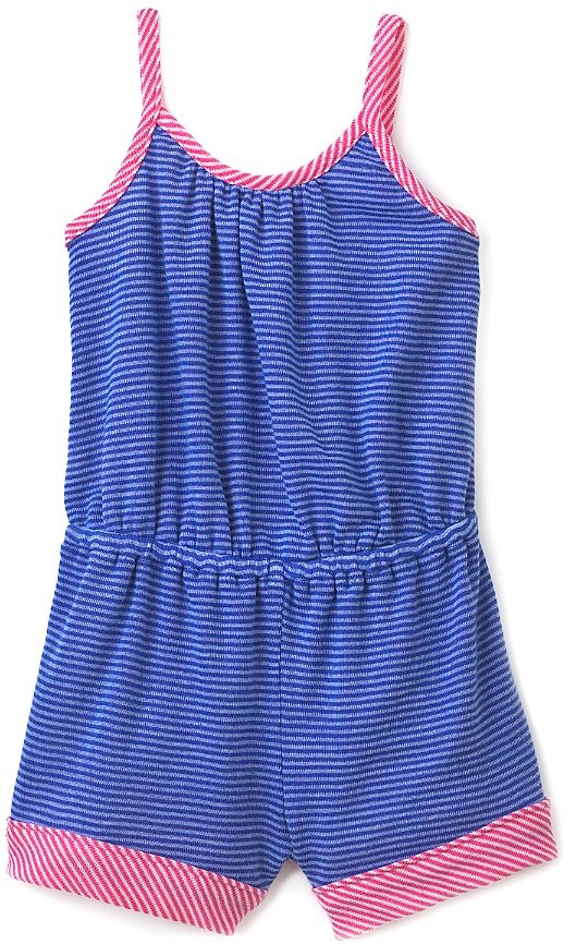 Splendid Littles Girls' Mini Stripe with Contrast Binding Romper - Sizes 4-6X