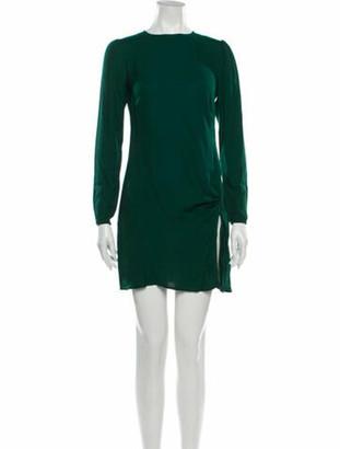 Reformation Crew Neck Mini Dress Green