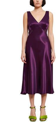 Callipygian Sheer Panel Bias Dress