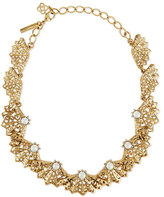 Oscar de la Renta Pearly Filigree Fan Necklace