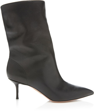 Aquazzura Very Boogie Leather Ankle Boots