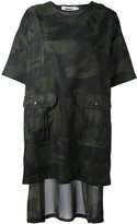 Marios camouflage print T-shirt dress