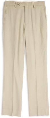 Michael Kors 'Kirton' Flat Front Linen Blend Trousers