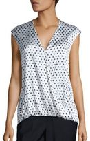 Peserico Silk Polka Dot Wrap Top